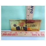 >Trump Novelty Gold color $1000 bill