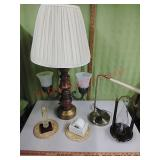 Vintage lamps,  weather glass, stamp moistener