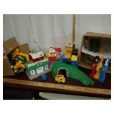 Lot of fisher price, mattel, geotrax, cars,