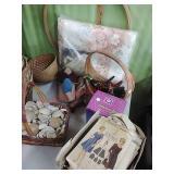 Full blanket, baskets, avon, vintage patterns &