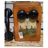 Antique crank telephone