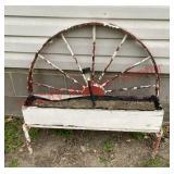Wagon wheel planter