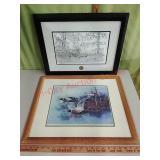 Wild Turkey Federation & other framed artwork