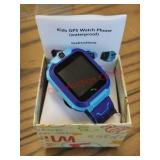 SeTracker kids blue GPS waterproof smartwatch.