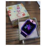 SeTracker kids pink GPS waterproof smartwatch. In