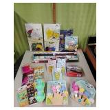Kids party decor, posters, toys