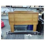 Headboard and bed frame, full/queen size