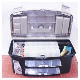 Very Clean Fishing Tackle Box with Tackle