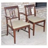 Two Wood & Upholstery Chairs