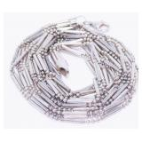 """18"""" Multi-Strand 925 Silver Necklace 21.4g Signed"""