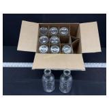 10 - NEW Glass Bottles