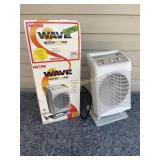 Thermal wave heater plus fan
