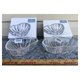 2 Valentine Heart Dishes - Lead Crystal by Mikasa