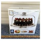 Footed Cake Plate with Dome Cover - 4 uses in one