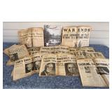 World War II Newspapers - Muncie and Indianapolis