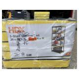 HDX 5 shelf storage unit