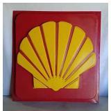 Shell plastic sign