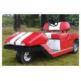 SS Red golf cart