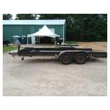 2 axle trailer with ramps