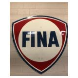 SS FINA PORCELAIN sign