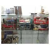 6 die cast replica cars