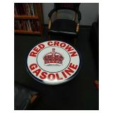 Porcelain top Red crown Gasoline coffee table
