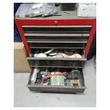 Floor toolbox with contents
