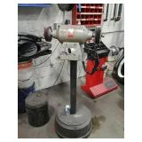 Blue-point bench grinder with stand