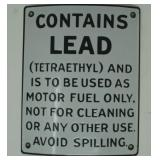 SST  Ethal Gasoline Warning sign