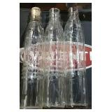 3 Shell motor oil bottles