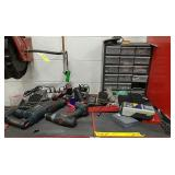 Power tools, drill bits, screws, and more