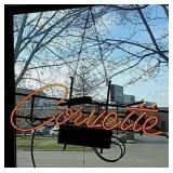 Neon Corvette sign
