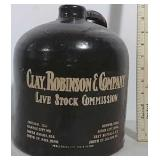 Clay, Robinson & Co. Live Stock Commission jug