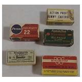 5 Ammo boxes-Remington,Peters,Western & Winchester
