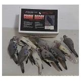 Dove and crow decoys