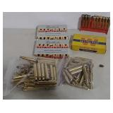Cartridge boxes, brass (Weatherby & Winchester)