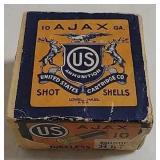 U.S. 10ga  Ajax 2 piece ammo box