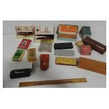 Knife advertising boxes, Hones, and more