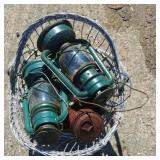 Lanterns, basket & globe waterers