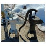 2 Water hand pumps