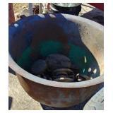 "Cast iron 28"" diameter pot"
