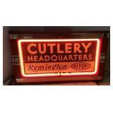 Remington Cutlery Headquarters neon sign