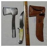 Western knife/hatchet combo