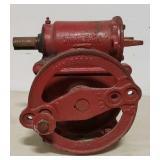 Red John Deere pump jack