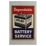 Atlas Battery Service framed poster