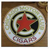 SSP Chicago Motor Club Cigar Sign