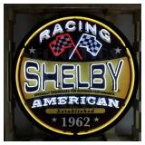 """Shelby Racing round neon sign in 36"""" steel can"""