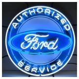 Ford Authorized Service neon sign W/ backing