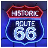 Route 66 neon sign w/ backing