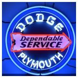 Dodge- Plymouth Dependable Service neon sign